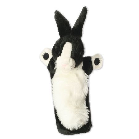 The Puppet Company Black and White Rabbit Puppet Ready to pop up and play, this lovely Black and White Rabbit will be the star of your show! From The Puppet Company, this long sleeved puppet is fantastic for bringing stories and play to life. Featur http://www.MightGet.com/february-2017-3/the-puppet-company-black-and-white-rabbit-puppet.asp