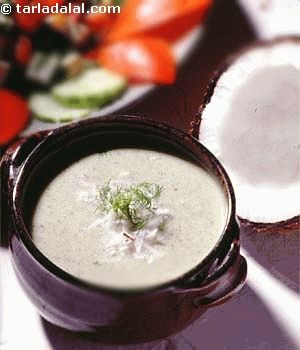 Hara Nariel Ka Shorba recipe   Soup Recipes   Salad Recipes   by Tarla Dalal   Tarladalal.com   #360