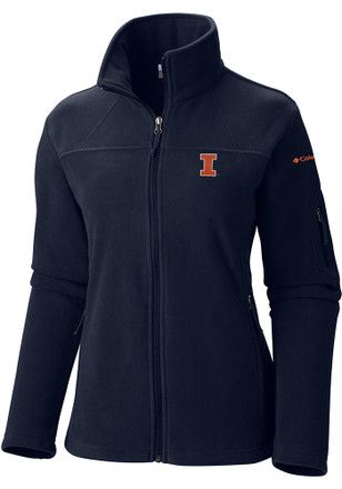 Columbia Illinois Fighting Illini Juniors Give and Go Navy Blue Medium Weight Jacket