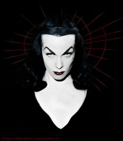 "Vampira! (she could go on my ""macabre"" pinterest board too)"