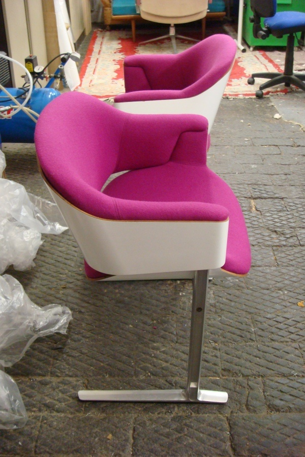 Ernest Race Chairs Designed For The QE2