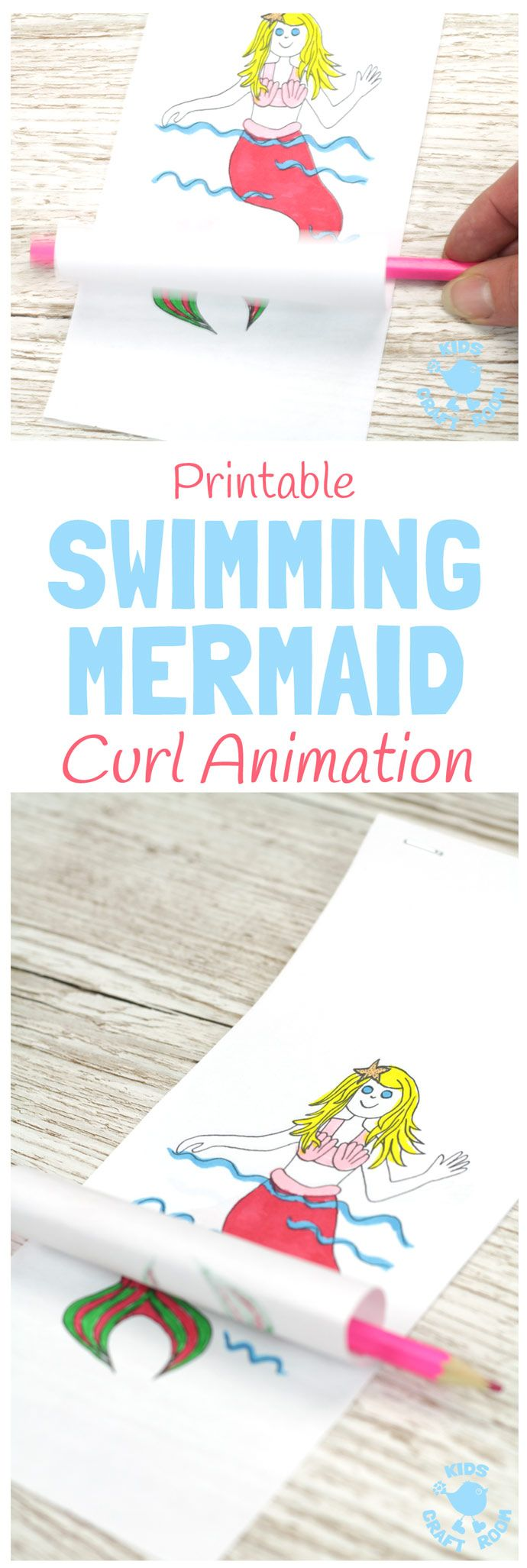 26 best kid vid fest images on pinterest stop motion animation swimming mermaid craft printable curl animation fandeluxe Gallery