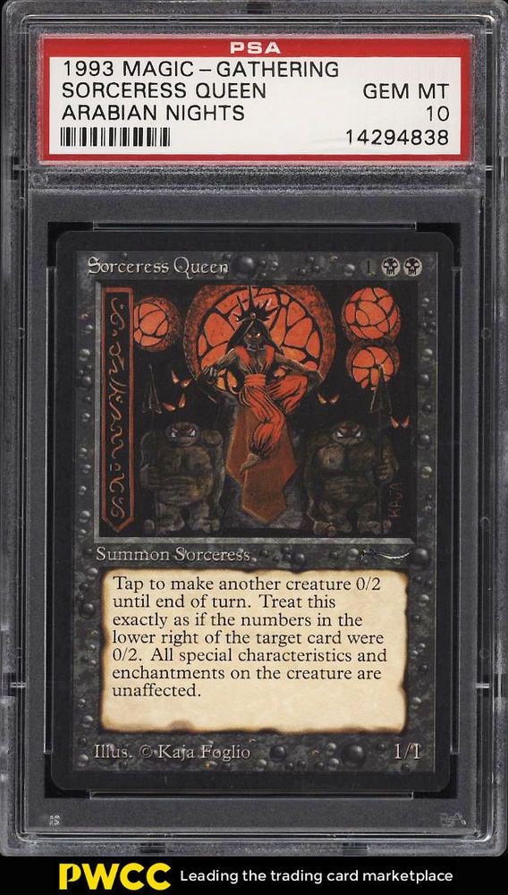 1993 Magic The Gathering Mtg Arabian Nights Sorceress Queen U3 K