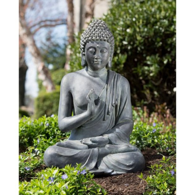 Lovely Alfesco Home Thai Buddha Garden Statue, I Would Love To Have A Buddha In A