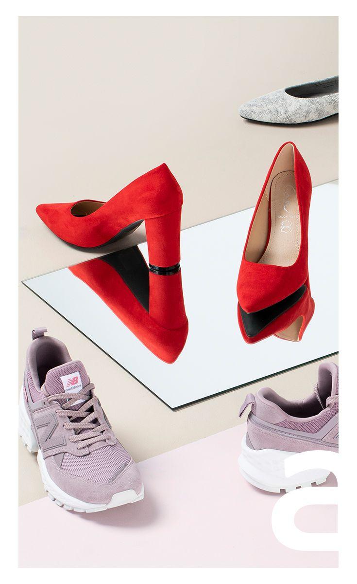 Moda Damska Stylizacje Damskie Obuwie Damskie Sneakersy Buty Sportowe Baleriny Czolenka Czerwone Buty Czerwo Sneakers Sneakers Nike Nike Cortez Sneaker