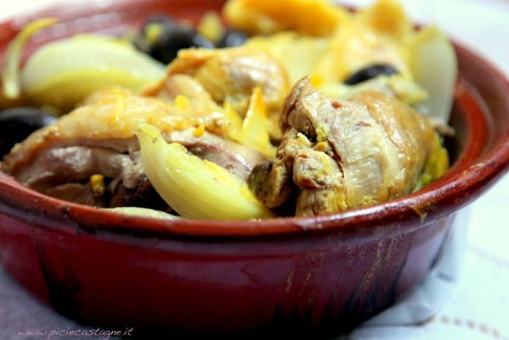 tajine di pollo alle olive al finocchi e ai limoni confits