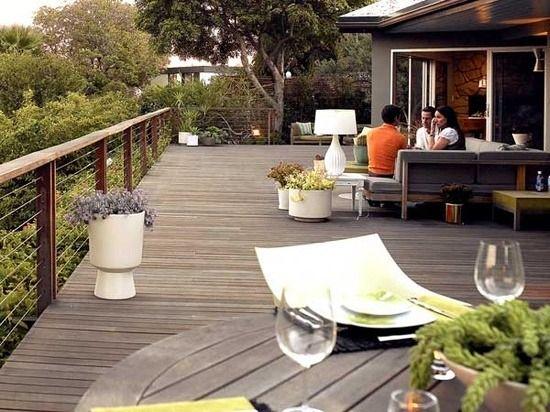 große veranda ideen terrasse bangkirai holz