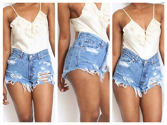 17 Best images about Destroyed Shorts on Pinterest | Vintage levis ...