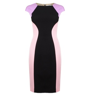 VERSACE COLLECTION Jersey Block Colour Dress at Flannels Fashion