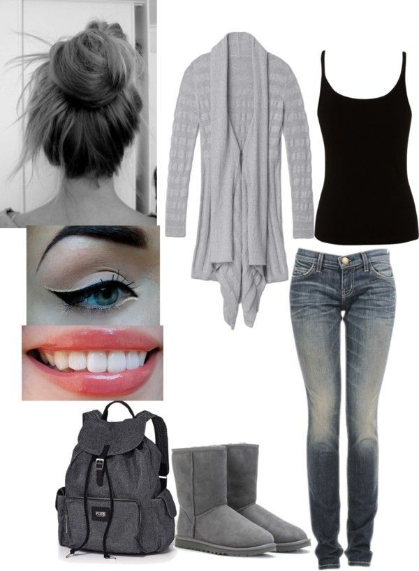 U0026quot;lazy day school outfitu0026quot; by brittmania liked on Polyvore | My Style | Pinterest | School outfits ...