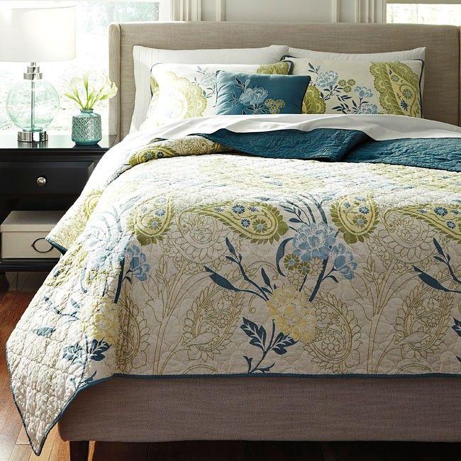 Paislette Quilt Teal Bedding Set - Bedding Sets - Bedding - Bedroom