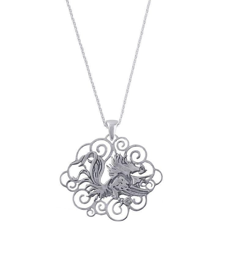 South Carolina Gamecocks Sterling Silver Filigree Necklace by Dayna U #zulily #zulilyfinds