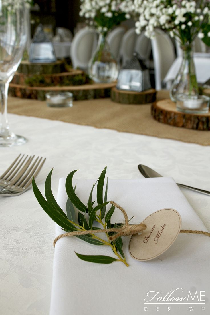 Winietki / Rustykale dekoracje ślubne / Rustykale dekoracje sali weselnej / Rustykalne Dekoracje ślubne od FollowMe DESIGN / Wedding Place Card / Rustic Wedding Ideas / Rustic Wedding Decorations & Details by FollowMe DESIGN
