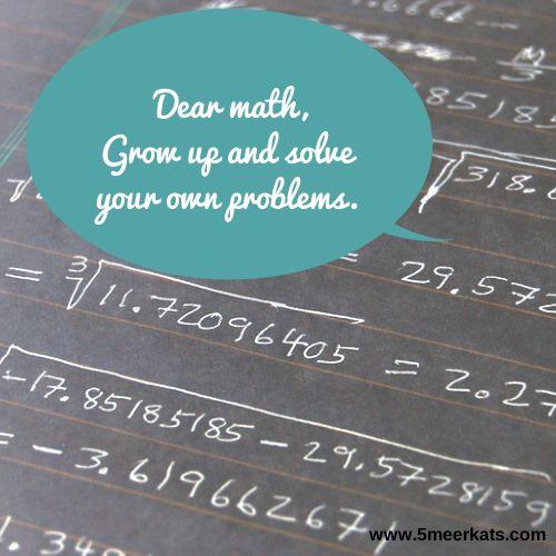 dear math... #funny