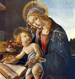 Madonna with the Book, Sandro Botticelli [1483] (Public Domain Image)