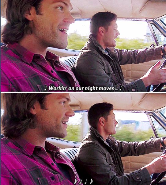 11x04 Baby [gifset] - singing Night Moves - Sam & Dean Winchester; Supernatural