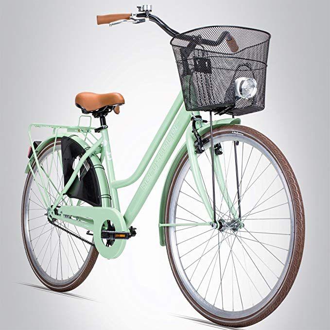 Bergsteiger Amsterdam 28 Zoll Damenfahrrad Ab 150 Cm Korb Fahrrad Licht Damen Citybike Mit Rucktrittbremse Hollan Damenfahrrad Kinderfahrrad Fahrrad Damen