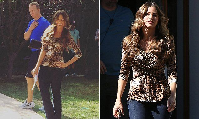 Sofia Vergara shares photo with Peyton Manning for Modern Family #DailyMail | These are some of the stories. See the rest @ http://www.twodaysnewstand.com/mail-onlinecom.html or Video's @ http://www.dailymail.co.uk/video/index.html And @ https://plus.google.com/collection/wz4UXB