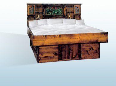 select water columbia 9 hardside waterbed 90 waveless with jasmine oak furniture bundle by