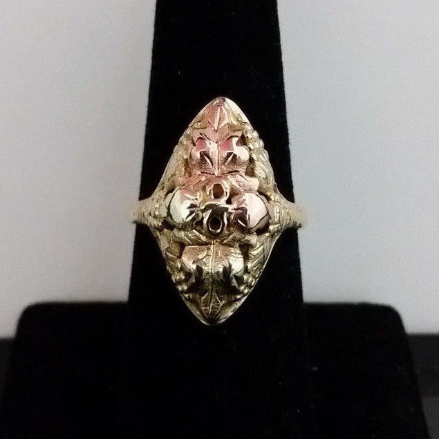 10k Black Hills Gold Ring. Size 8 in Jewelry & Watches, Fine Jewelry, Fine Rings | eBay