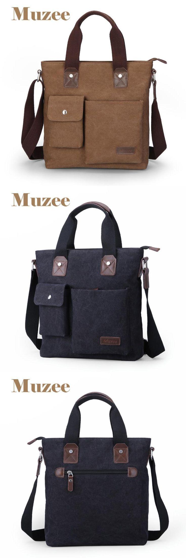 [Visit to Buy] Muzee fashion Business casual men's bags handbag Canvas Totes Multi-function bag ME_0466 #Advertisement