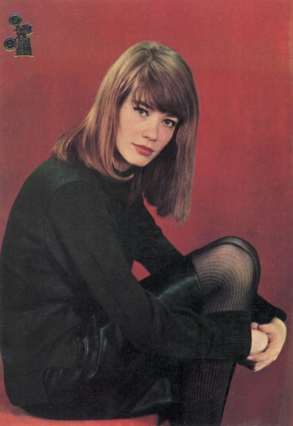 Francoise Hardy. Blunt cut and bangs.