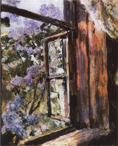 Valentin Serov (Russian, 1865-1911). Open Window. Lilacs. 1886. Oil on canvas.