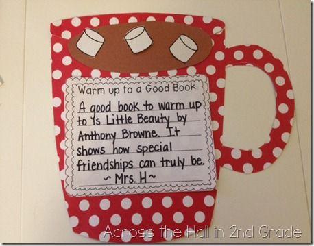 Warm Up to a Good Book bulletin board FREEBIE!