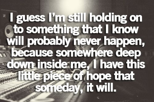 I couldn't have said it better... I believe because I have hope and faith...