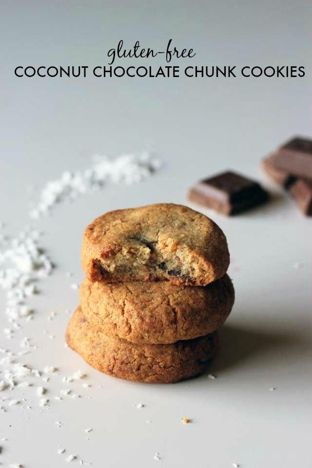Gluten Free Coconut Chocolate Chunk Cookies