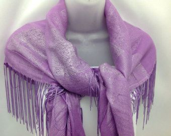 Lovely Lavender Fringe Shawl, Womens Fashion Scarf, Holiday gift, Purple Piano shawl, Gift for Mother in law, Birthday gift for Wife, 40x40 by blingscarves. Explore more products on http://blingscarves.etsy.com