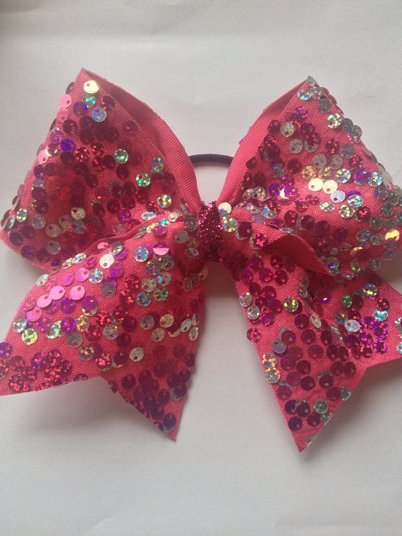 Sequin Cheer Bow on Etsy, $11.00