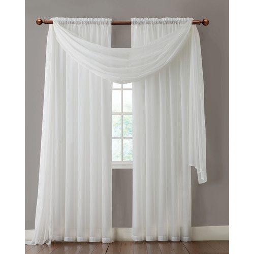 Found it at Wayfair - Aurora Rod Pocket Sheer Single Curtain Panel