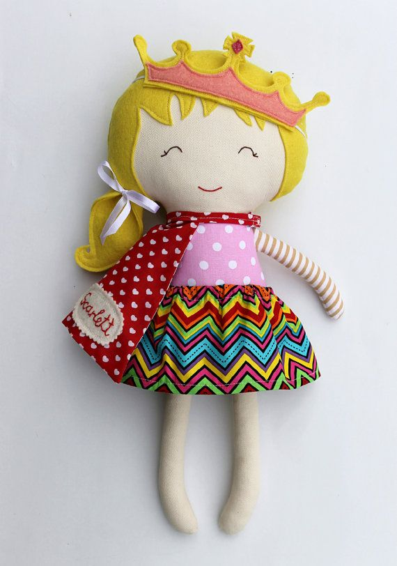 Rag doll toy princess handmade fabric doll clothing toddler girl gift kids game…