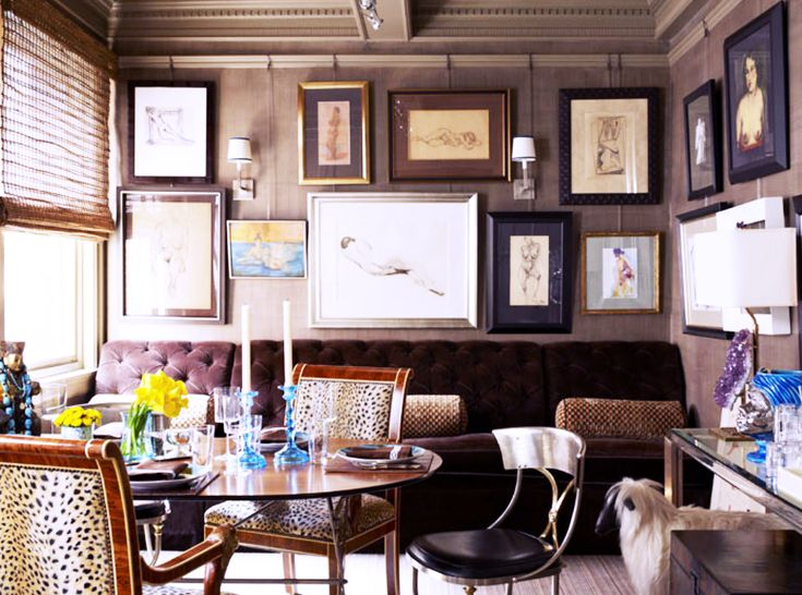 Step Into A Whimsical Apartment With Sophisticated Style Cozy Dining RoomsEclectic