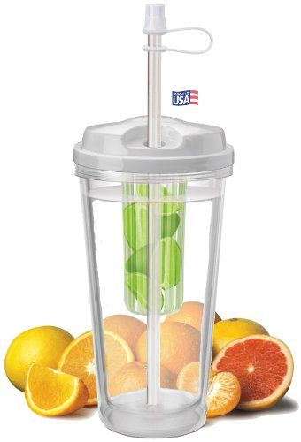 water tumbler + infuser = any custom flavored water on-the-go!