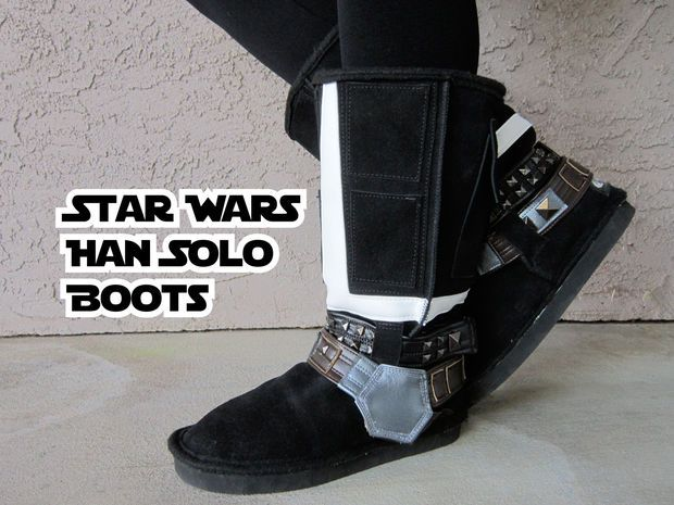 Instructions and pattern to make Star Wars Han Solo Boots (or any other kind you wish)
