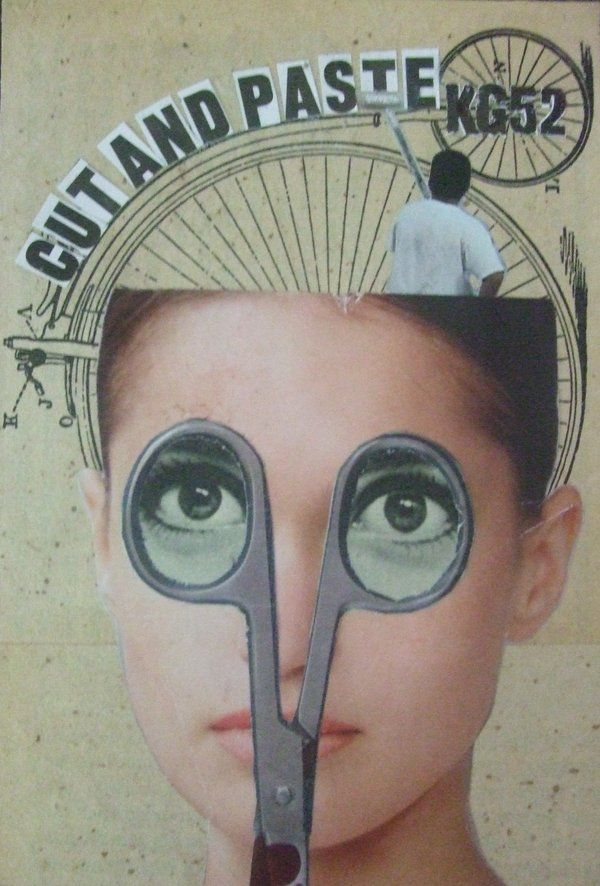 Colagem SALÃO DE BELEZA CORTEX; Idéia cerebro