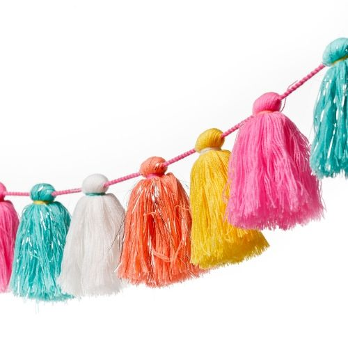 Brighten up any room with this gorgeous Tassel garland from Adairs Kids. In a generous 180cm size