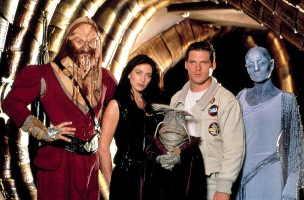 Farscape cast: Anthony Simcoe, Claudia Black, Dominar Rygel XVI, Ben Browder,