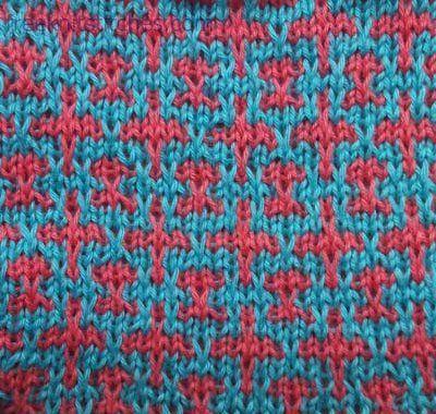 Chain knitting stitch