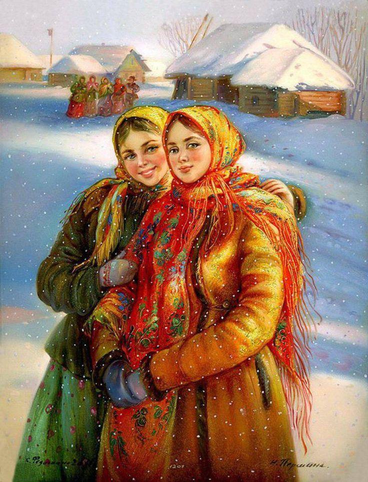 русские народные картинки зима этом