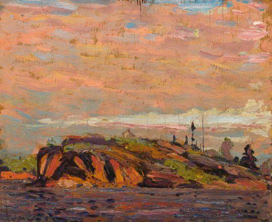 Tom Thomson, Rock-MacCallum's Channel, 1914