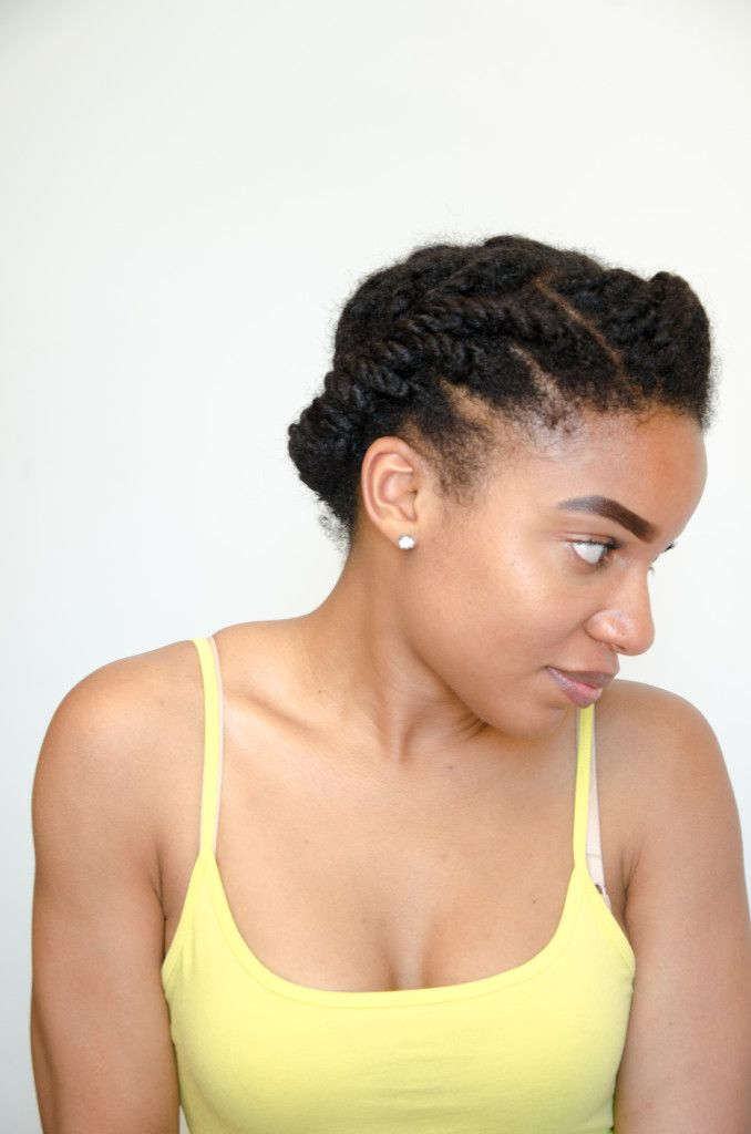 Two Strand Twist Updo Tutorial   The Feisty House