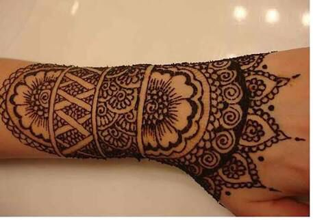 #tattoo #hand #indian #mandala #rihanna