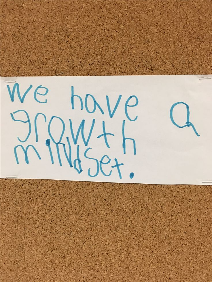 We have a growth mindset