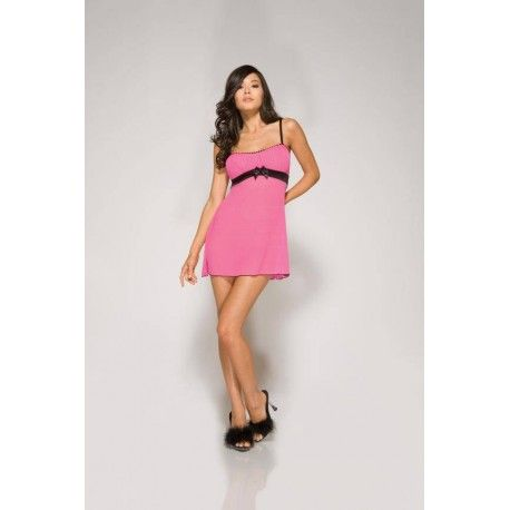 Are you looking for comfortable and sexy night dress then this is really what you are looking for.  This sweet night dress is slightly translucent what it exciting. Under the breasts black belt causing the breasts a beautiful shape to get the dress.  The straps are adjustable up and a matching thong included.