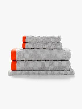 Check Bath Towel Set