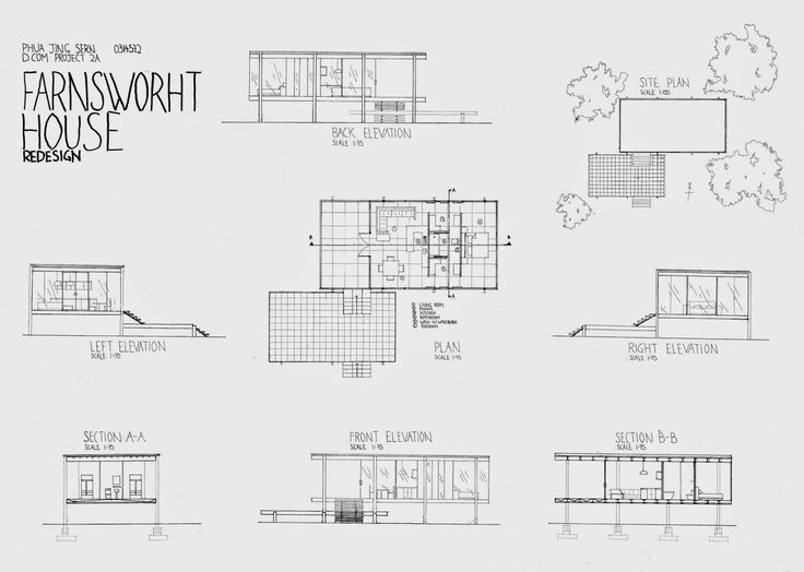 30 beautiful floor plan farnsworth house images house for Farnsworth house floor plan
