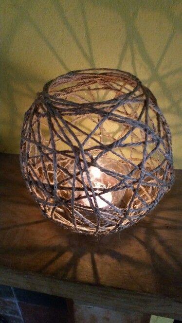 Jute string tealight ball